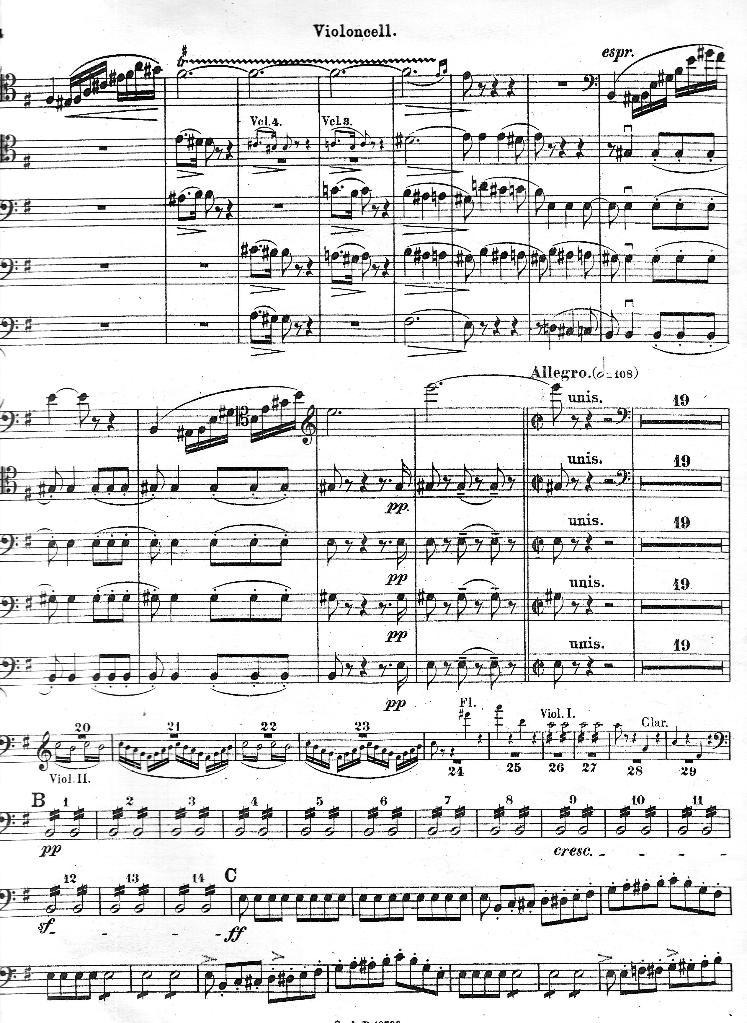 Россини. Вильгельм Телль. Виолончельное соло. Страница 3