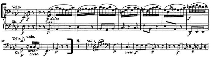 Бетховен. Симфония №5. Вторая часть, Andante con moto, отрывок 2