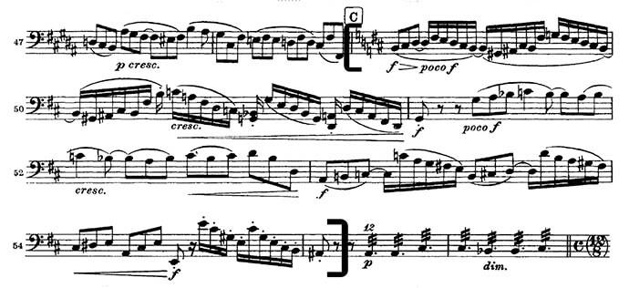 Брамс. Симфония №2. Вторая часть. Adagio non troppo. Второй отрывок