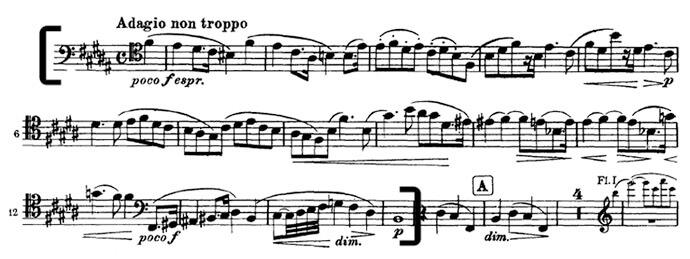 Брамс. Симфония №2. Вторая часть. Adagio non troppo. Первый отрывок